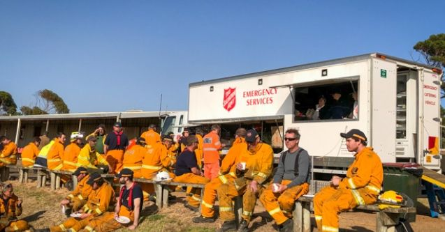 Ensuring firefighters are well-fed on Kangaroo Island