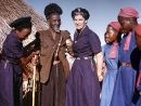 Eva Burrows meets a local witch doctor in Zimbabwe
