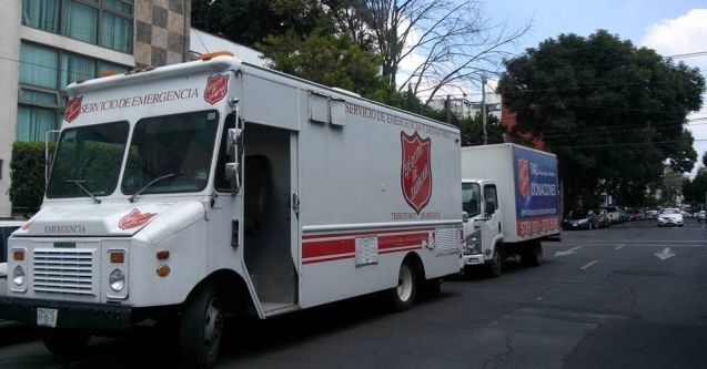 The Salvation Army in Mexico responds to dual disasters