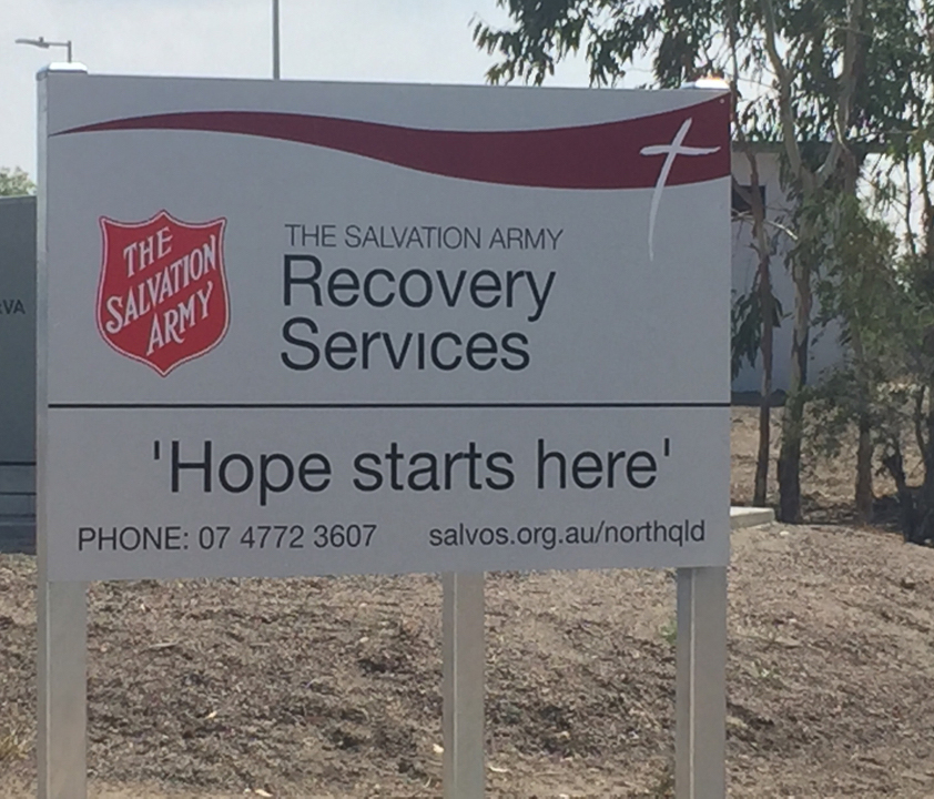 recovery centre sign