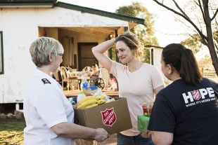 The Salvos gathered together resource to make Jennie and her families Christmas special