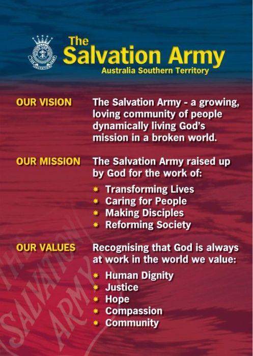 the salvation armys mission statement bellarine peninsula