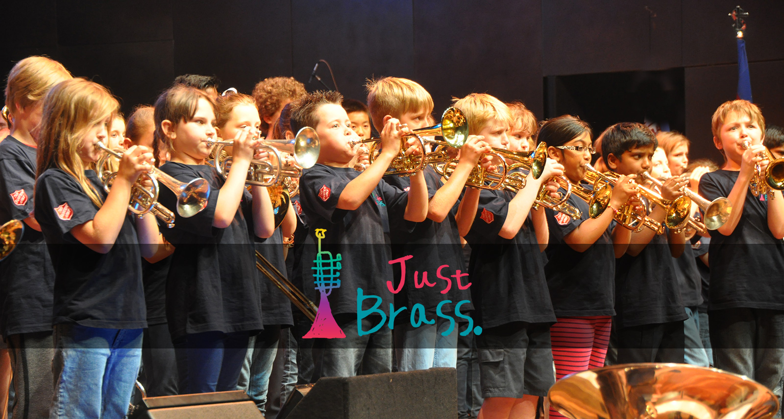 Children performing brass music at Hamer Hall