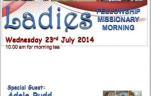 Ladies Fellowship Missionary Morning