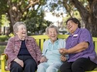 ladies laughing at an Aged Care centre