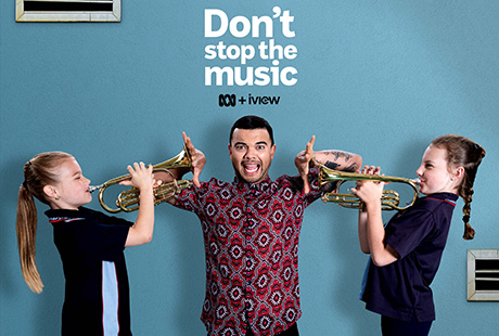 Guy Sebastian with students