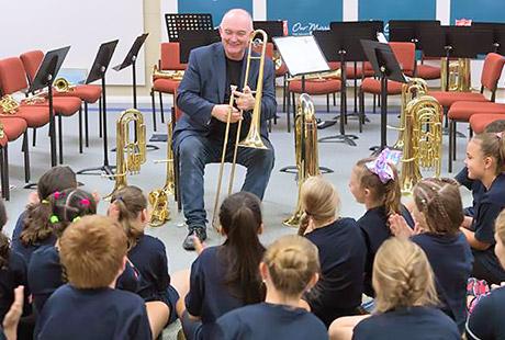 James Morrison teaching Just Brass class