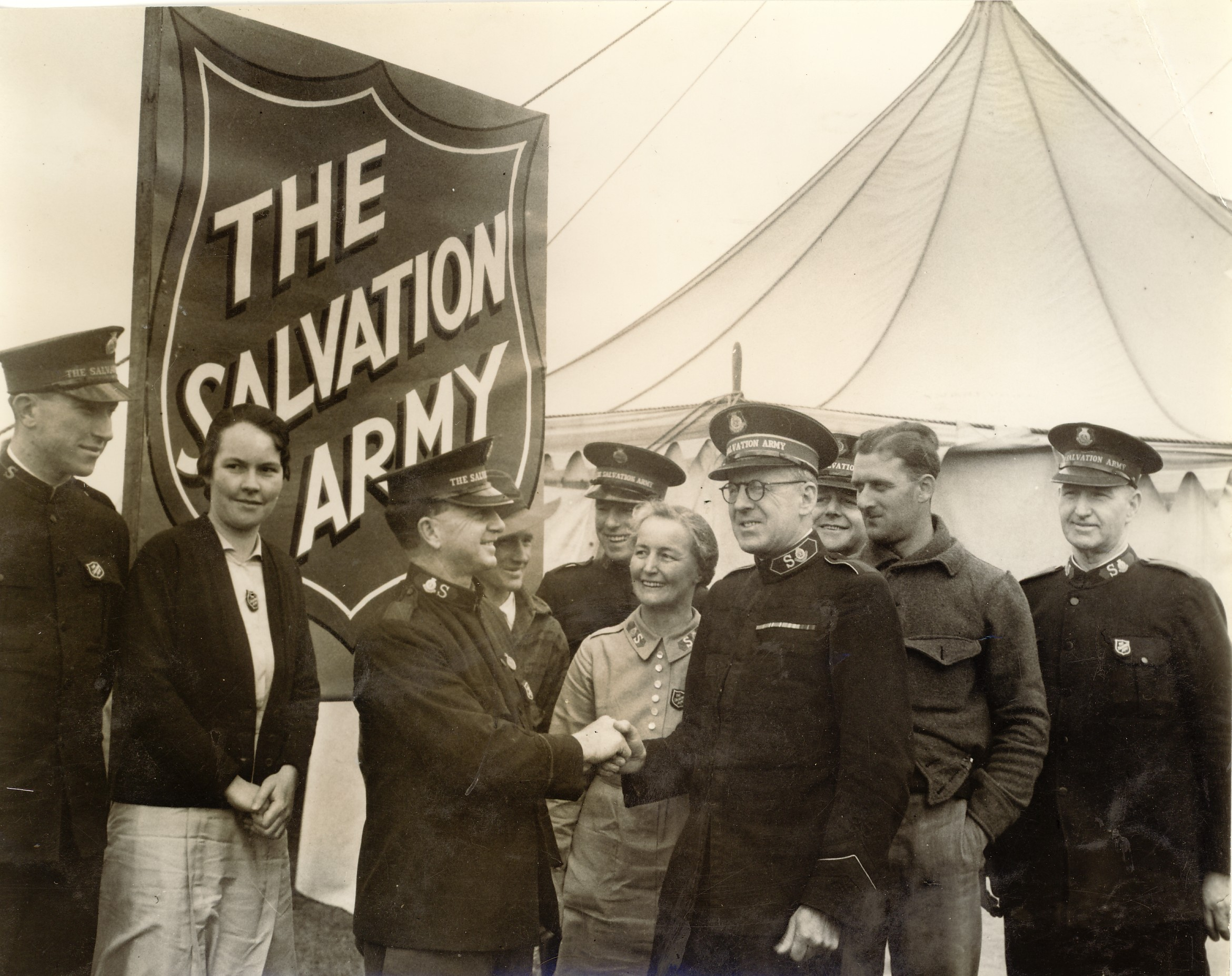 The opening of the first Salvation Armt marquee at Puckapunyal c1939