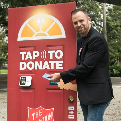 The Tap To Donate Door used since the Red Shield Appeal 2017 campaign.